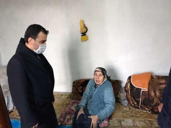 Kaymakam Koşal, şehit annesini ve 102 yaşındaki Ümmühan Azer'i ziyaret etti