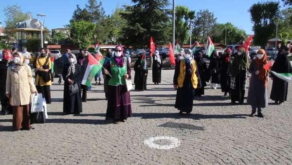 Uşakta İsrail saldırıları kınandı