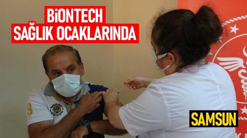 Samsunda BioNTech sağlık ocaklarında