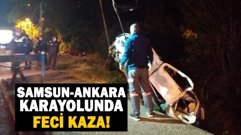 Samsun-Ankara karayolunda feci kaza!