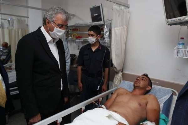 AK Parti Genel Başkan Yardımcısı Yavuz ve Başkan Yüce, patlamada yaralananları h