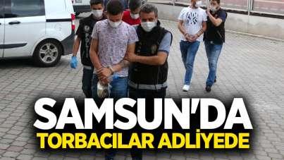 Samsun'da torbacılar adliyede