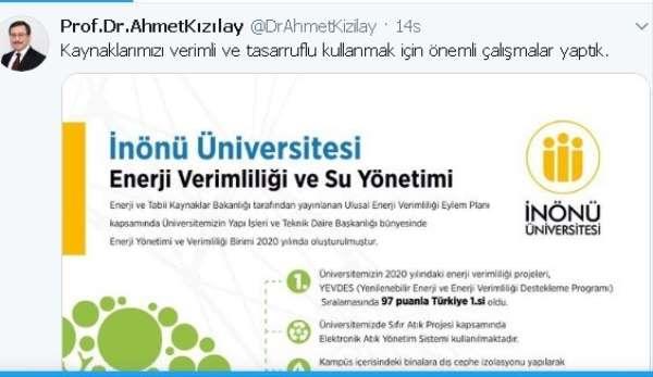 İnönü Üniversitesi enerji verimliliğinde Türkiye 1'ncisi