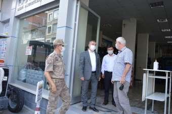 Havza'da başkan Özdemir'den maske denetimi