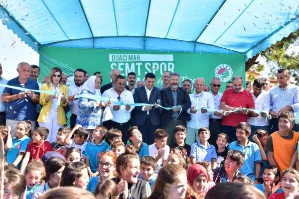 Semt spor sahası törenle hizmete açıldı