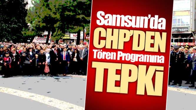 CHP'den Tören Programına Tepki