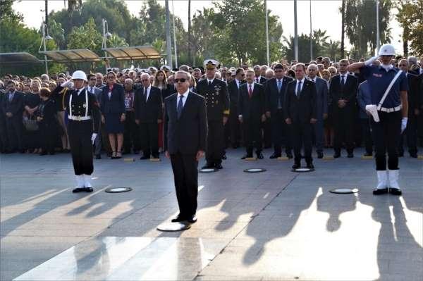 Atatürk, ölümünün 81. yıldönümünde Mersin'de törenle anıldı