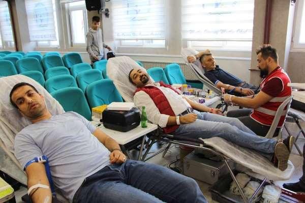 Baruthane Ortaokulu'nda yeni bir kan bağışı rekoru