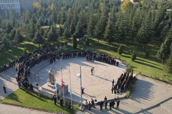 Erciyes Üniversitesinde 10 Kasım Atatürk'ü Anma Töreni Gerçekleştirildi