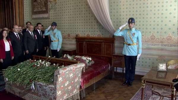 Gazi Mustafa Kemal Atatürk, 81'inci ölüm yıl dönümünde Dolmabahçe Sarayı'nda anı