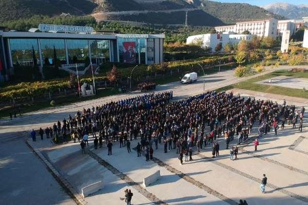 Pamukkale Üniversitesinde Atatürk'ü Anma Töreni düzenlendi