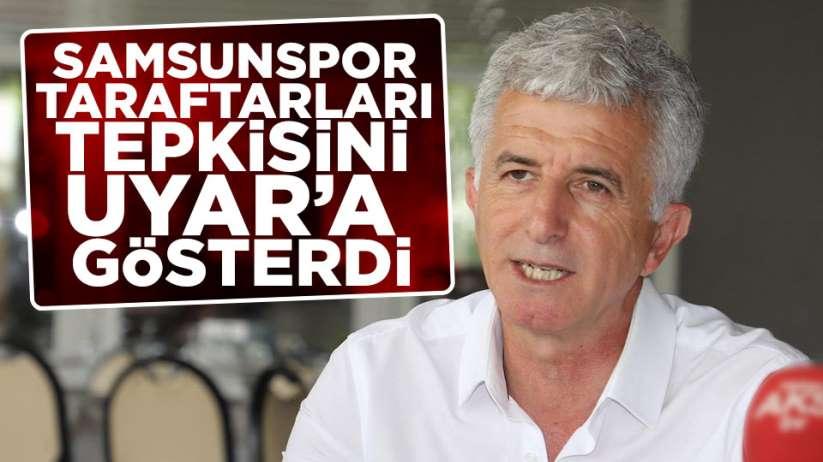 Samsunspor taraftarının tepkileri Yücel Uyar'a