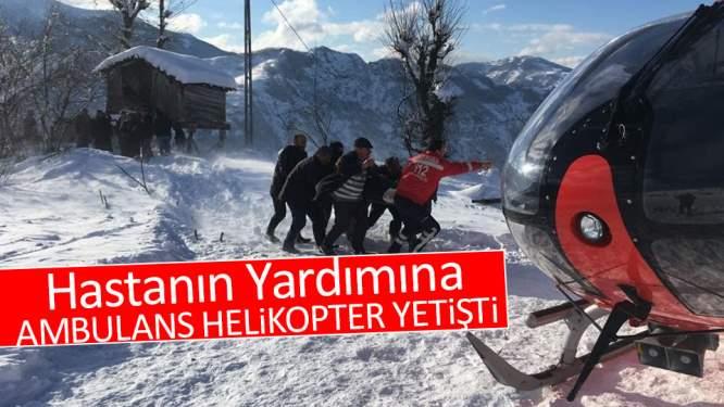 Hastanın Yardımına Ambulans Helikopter Yetişti