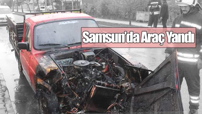 Samsun Haberleri: Çarşamba'da Bir Araçta Yangın Çıktı