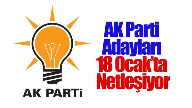 AK Parti Adayları 18 Ocak'ta Netleşiyor