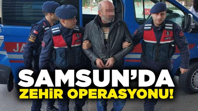 Samsun'da zehir operasyonu: 8 gözaltı