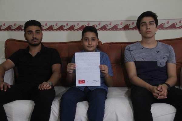 Şehit polis çocuklarından asker ve polise mektup