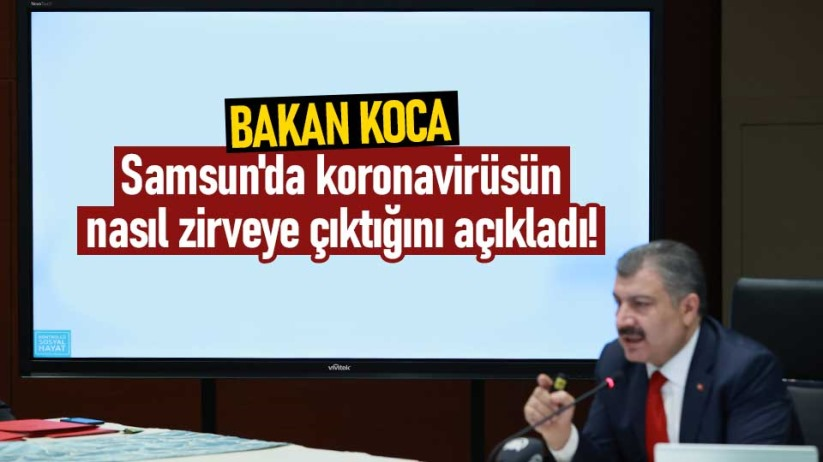 Samsun'da koronavirüsün nasıl zirveye çıktığını açıkladı!