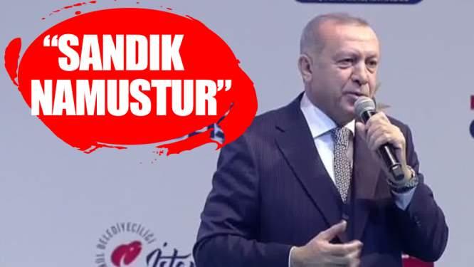 Erdoğan: Sandık namustur