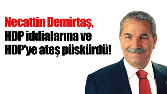 Necattin Demirtaş, HDP iddialarına ve HDP'ye ateş püskürdü!