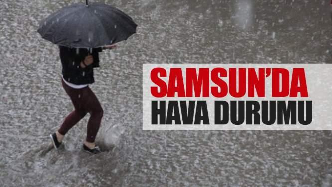 10 şubat pazar Samsun'da hava durumu