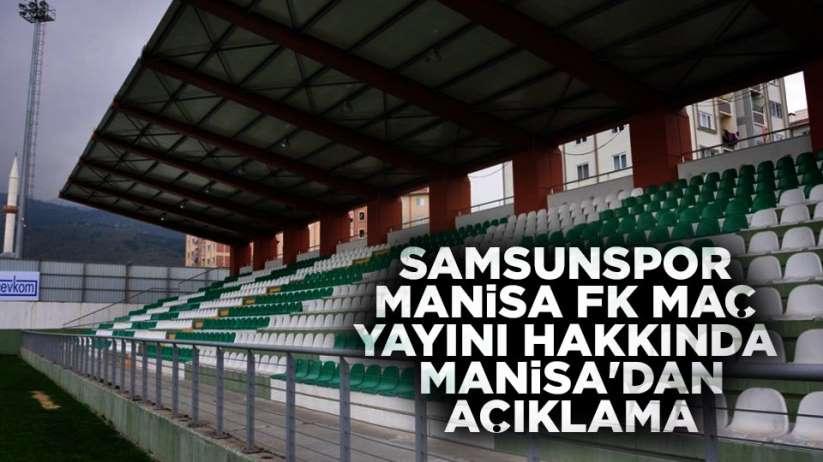 Samsunspor Manisa FK maçı TRTde verilecek mi?