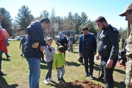 TEMA Vakfı Midyat'ta 300 fidanı toprakla buluşturdu