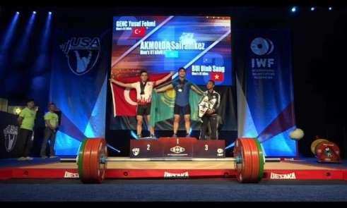 Ordulu Yusuf Fehmi Genç, halterde dünya şampiyonu oldu