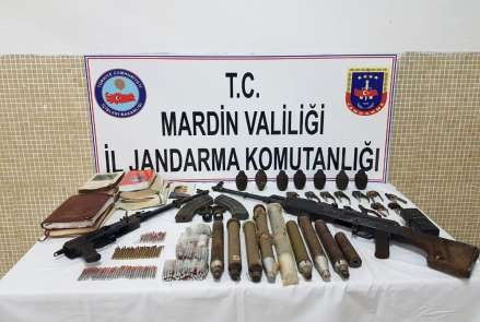 Nusaybin'de PKK'lı teröristlere ait mühimmat ele geçirildi