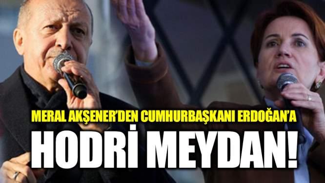 Meral Akşener'den Erdoğan'a: Tehdit mi ediyorsun, hodri meydan