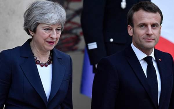 May Macron ile görüştü