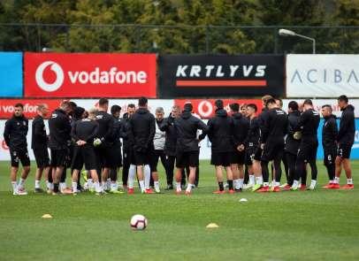 Beşiktaş, M. Başakşehir maçı hazırlıklarını sürdürüyor
