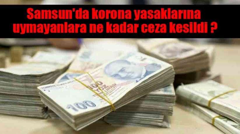 Samsun'da korona yasaklarına uymayanlara ne kadar ceza kesildi