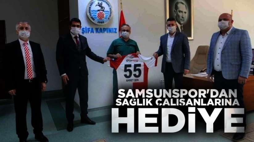 Samsunspor'dan sağlık çalışanlarına hediye