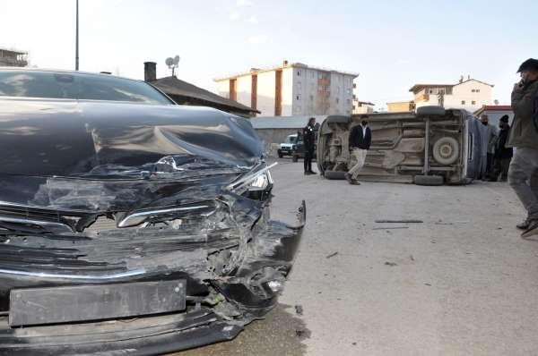 Yüksekovada trafik kazası: 1 yaralı