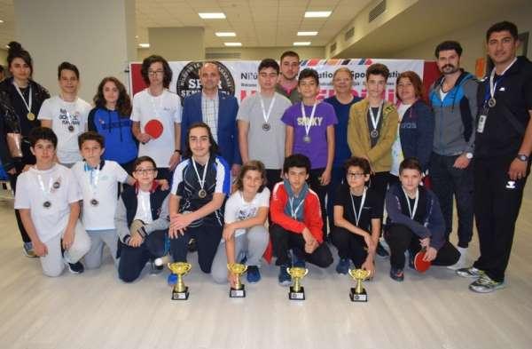 Spor şenliklerinde masa tenisi turnuvası tamamlandı