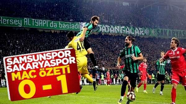 Sakaryaspor Samsunspor maç özeti 0 - 1