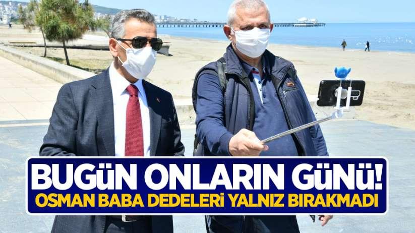 Samsun'da 65 yaş ve üzeri vatandaşlar sokakta
