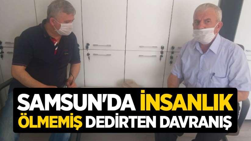 Samsun'da insanlık ölmemiş dedirten davranış