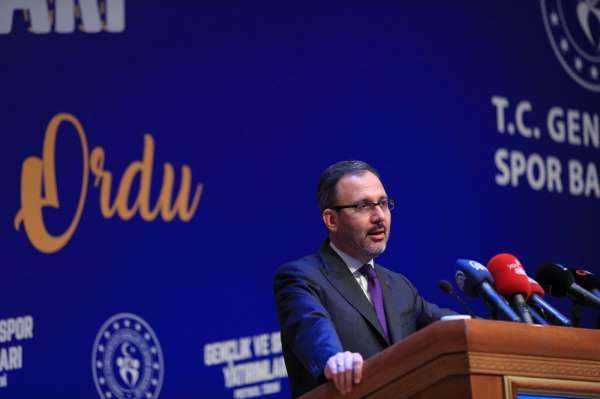 Bakanı Kasapoğlu: Ordunun bundan sonraki süreçte spor ve gençlik adına yeni bir dönemini başlatmak üzere kar