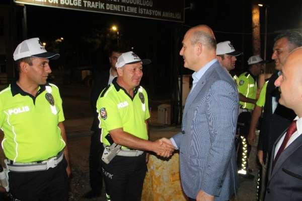 Bakan Soylu Amasya'da trafik denetimlerine katıldı