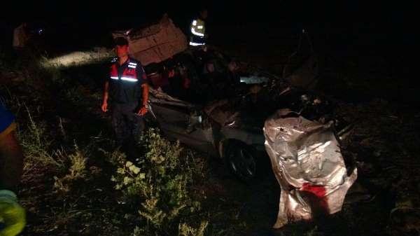Yozgat'ta trafik kazası 2 ölü 5 yaralı