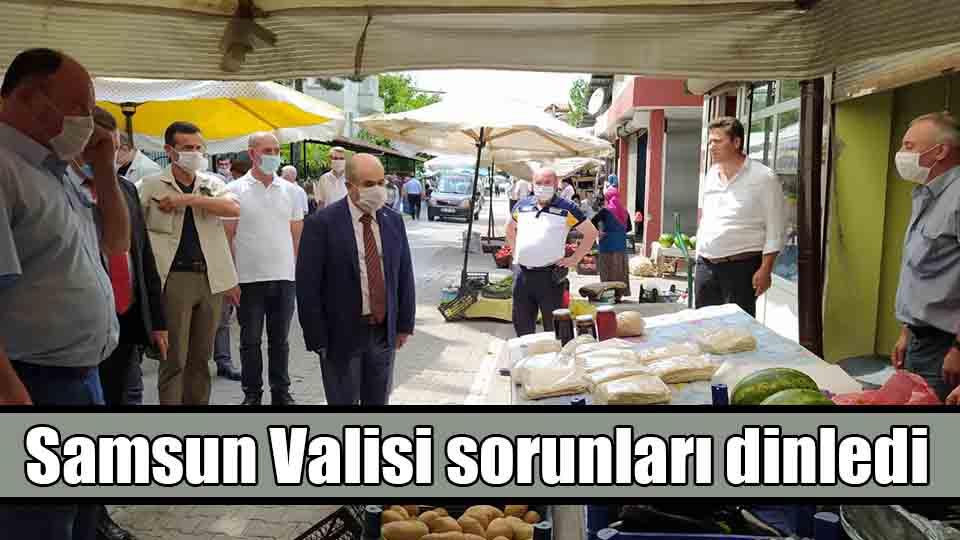 Samsun Valisi Dr Zülkif Dağlı sorunları dinledi