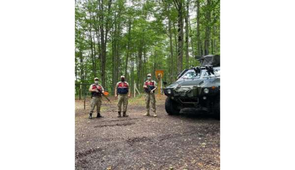 Orduda ormanlarda jandarma nöbeti