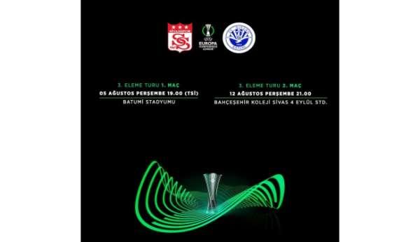 Sivassporun Batumi ile yapacağı maçların saati belli oldu