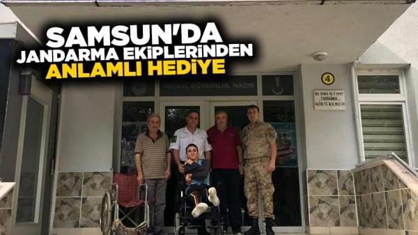 Samsun'da Jandarma ekiplerinden anlamlı hediye