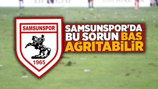 Samsunspor'da saha zemininin bozuk olması gözlerden kaçmadı