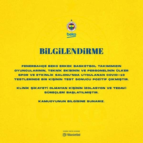 Fenerbahçe Erkek Basketbol Takımında 1 kişinin testi pozitif çıktı
