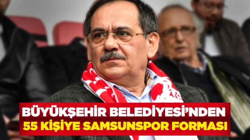 Büyükşehir Belediyesinden 55 kişiye Samsunspor forması