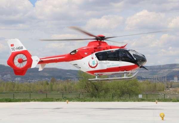 İş kazası geçiren işçiye ambulans helikopter